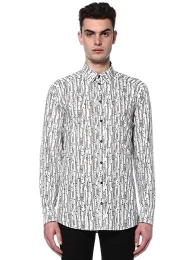 Dolce&Gabbana Desenli Uzun Kollu Gömlek Siyah